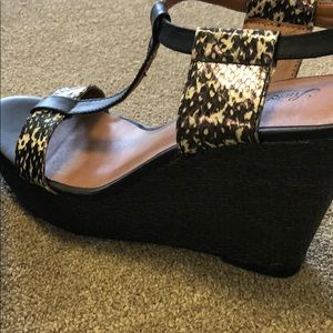 Lucky Brand Shoes - Lucky brand black wedges